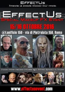 EFFECTUS EVENT 2016: La seconda edizione dell? unico evento italiano di Special Make-Up Effects - InGenere Cinema InGenere Cinema